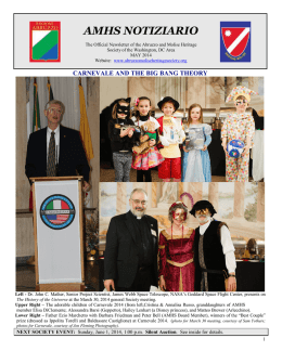 to view the May 2014 Notiziario - Abruzzo and Molise Heritage Society