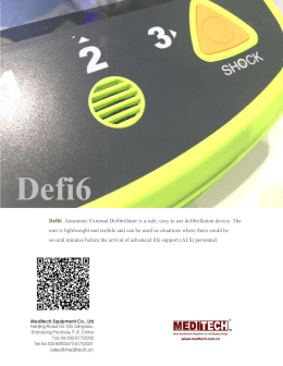 Defi6  AED defibrillator with monitor