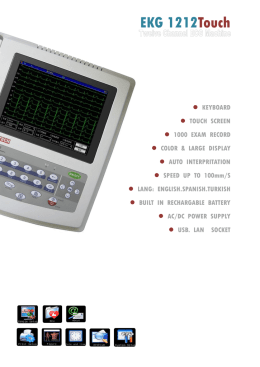 EKG1212T 12 channel ECG with free PC software