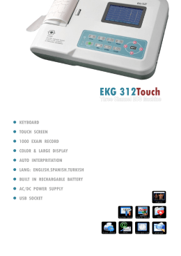 EKG312T 3 Channel ECG machine with touch color screen