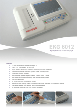 EKG-6012  ECG machine 6 channel with touch color screen