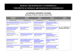here - Roman Archaeology Conference
