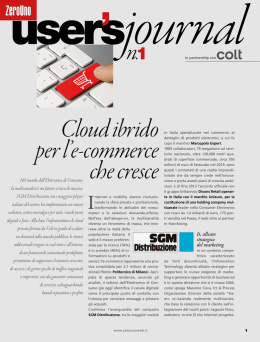 Cloud ibrido per l`e-commerce che cresce