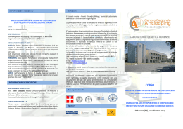 BROCHURE corso ANALISI DEL DNA E