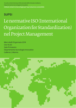 Le normative ISO (International Organization for