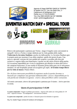 juventus match day e special tour 8 marzo 2015 ( juventus vs
