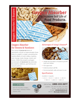 Oxygen Absorbers to Increase Shelf Life of Products