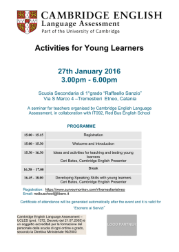 Activities for Young Learners