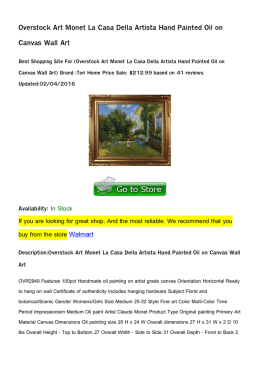 Overstock Art Monet La Casa Della Artista Hand Painted Oil on