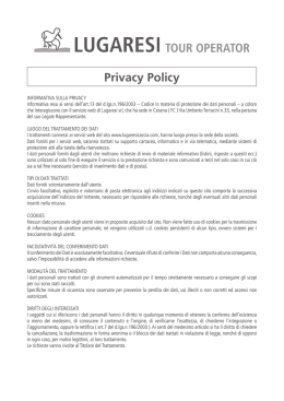Privacy e Note Legali