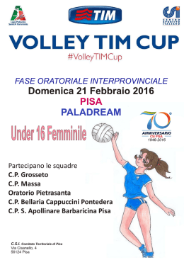 volley tim cup pisa