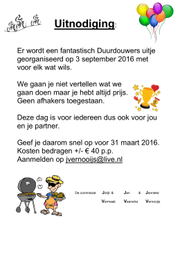 DD-uitje 3 september