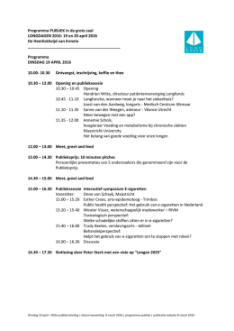 Programma dinsdag 19 april 2016