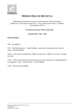 Programma - University of Milano