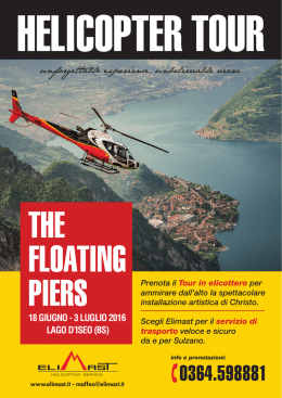 The Floating Piers HELICOPTER TOUR