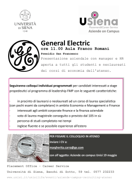 General Electric - Università degli Studi di Siena