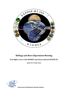BIOlogy and Mars EXperiment Meeting