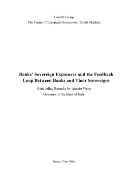 Banks` Sovereign Exposures and the Feedback Loop