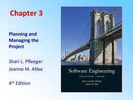 Chapter 3 Planning and Managing the Project