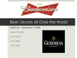 Beer: Drunks All Over the World Jessica Schmitt Eva Lindsay