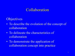 Collaboration Objectives