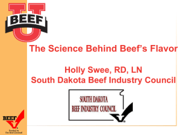 The Science Behind Beef's Flavor Holly Swee, RD, LN