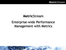 Metric Enterprise-wide Performance Management with Metrics