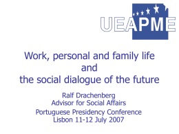 Work, personal and family life and the social dialogue of the future