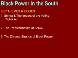 Black Power in the South
