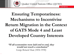 Ensuring Temporariness: Mechanisms to Incentivise Return Migration in the Context