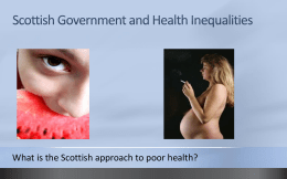 What is the Scottish approach to poor health?