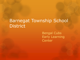 Barnegat Township School District Bengal Cubs Early Learning