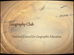 Geography Club National Council for Geographic Education