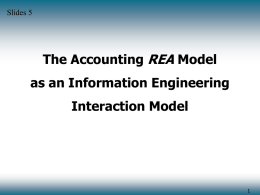 REA The Accounting Model as an Information Engineering