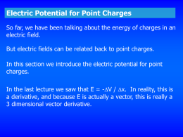 Electric Potential for Point Charges