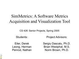 SimMetrics: A Software Metrics Acquisition and Visualization Tool