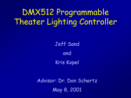 DMX512 Programmable Theater Lighting Controller Jeff Sand and