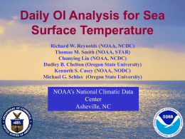 Daily OI Analysis for Sea Surface Temperature