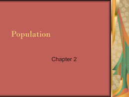 Population Chapter 2