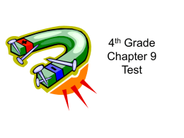 4 Grade Chapter 9 Test