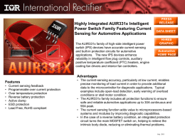 Highly Integrated AUIR331x Intelligent Current Sensing for Automotive Applications