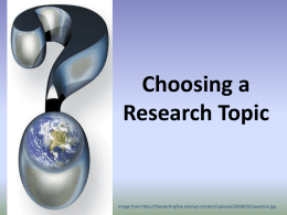 Choosing a Research Topic Image from