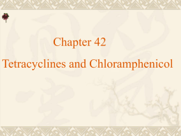 Chapter 42 Tetracyclines and Chloramphenicol