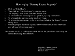"How to play ""Nursery Rhyme Jeopardy"""