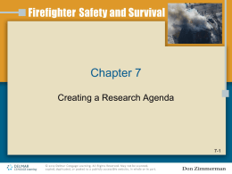 Chapter 7 Creating a Research Agenda 7-1