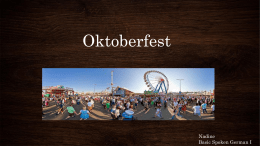 Oktoberfest Nadine Basic Spoken German I
