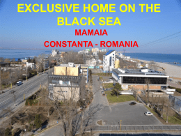 EXCLUSIVE HOME ON THE BLACK SEA MAMAIA CONSTANTA - ROMANIA