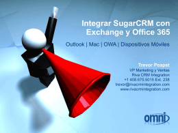Integrar SugarCRM con Exchange y Office 365 Trevor Poapst