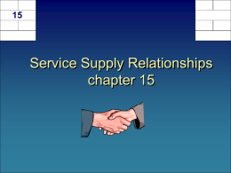 Service Supply Relationships chapter 15 15