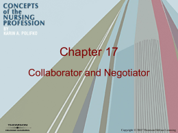 Chapter 17 Collaborator and Negotiator